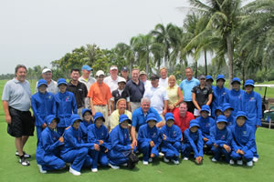 Golfasian Journalists with Thai Country Club Caddies