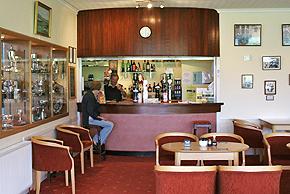 The bar at Moffat Golf Club, Scotland