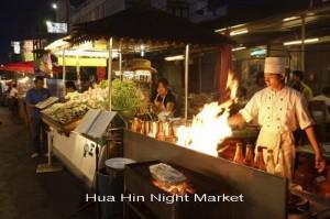 Hua Hin Night Market or Chat Chai Night Market at Prachuap Khiri Khan